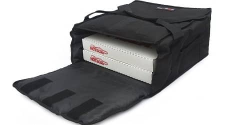 Black Polyester Insulated Pizza Delivery Bag