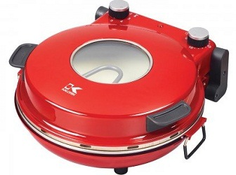 Red PZM 43618 Heat Stone Pizza Oven