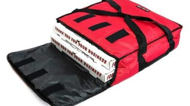 Red Polyester Insulated Pizza
