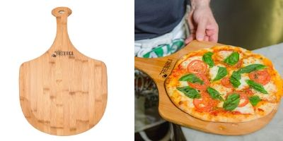 Frederica Trading Premium Bamboo Wooden Pizza Peel Paddle
