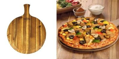Mountain Woods Brown Large Acacia Wood Pizza Peel