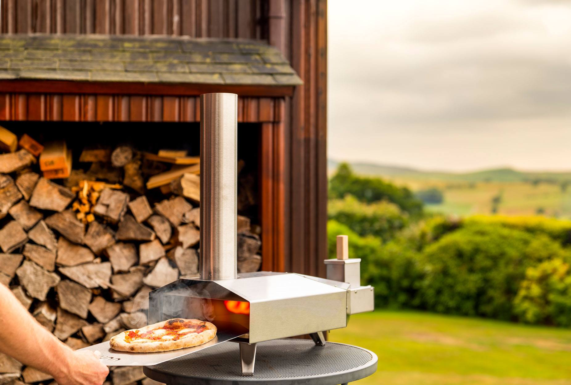 Wood-fired portable pizza oven